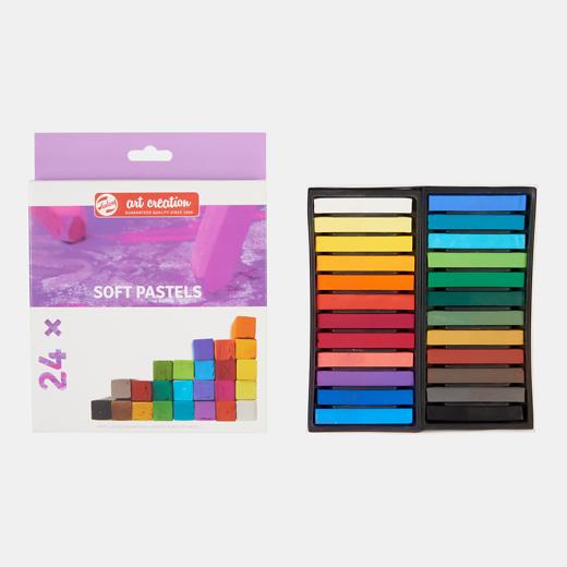 Art Creation pehmed pastellid 24 värvi.