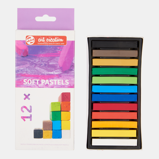 Art Creation pehmed pastellid 12 värvi.