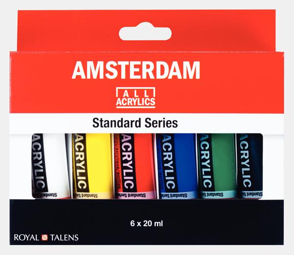 Amsterdam 6 x 20ml akrüülvärvi komplekt
