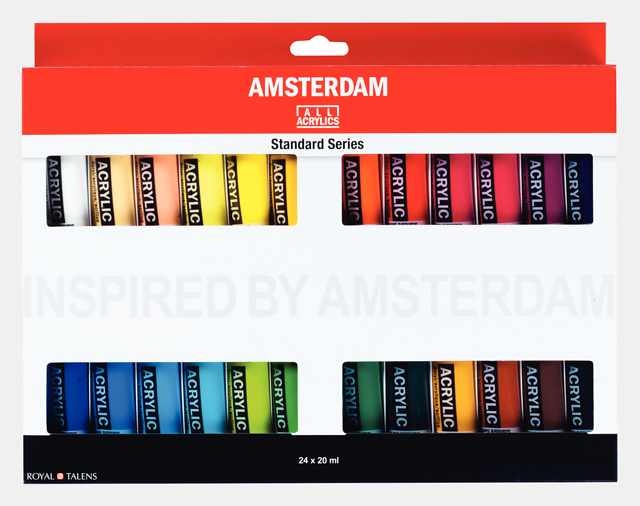 Amsterdam 24 x 20ml akrüülvärvi komplekt