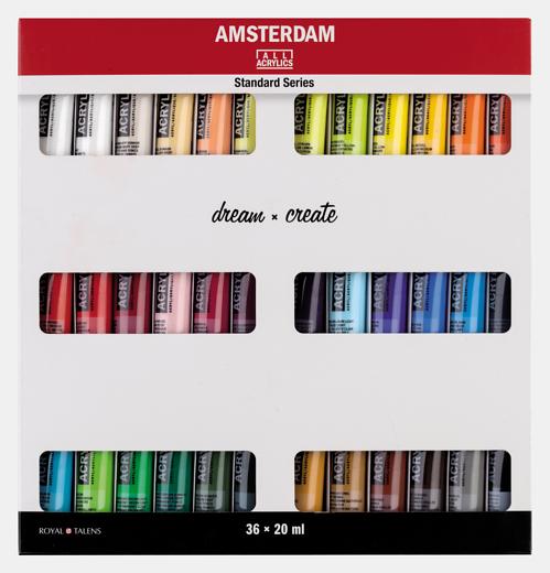 Amsterdam 36 x 20ml akrüülvärvi komplekt