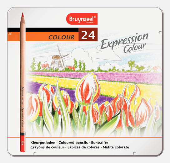 Bruynzeel värvipliiatsid 24 värvi