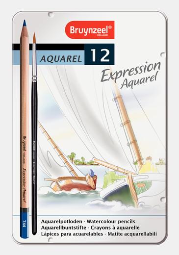Bruynzeel akvarellitavad pliiatsid 12 värvi