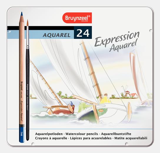 Bruynzeel akvarellitavad pliiatsid 24 värvi