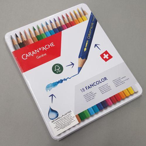 Carand'ache Geneve akvarellitavad värvipliiatsid 18 värvi