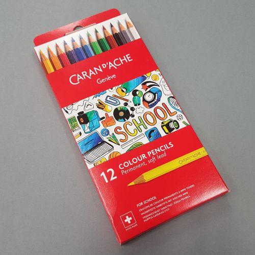 Carand'ache Geneve kooli värvipliiatsid 12 värvi
