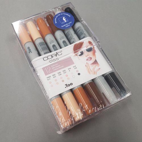 Copic Ciao markerite komplekt 12 nahavärvitooni.