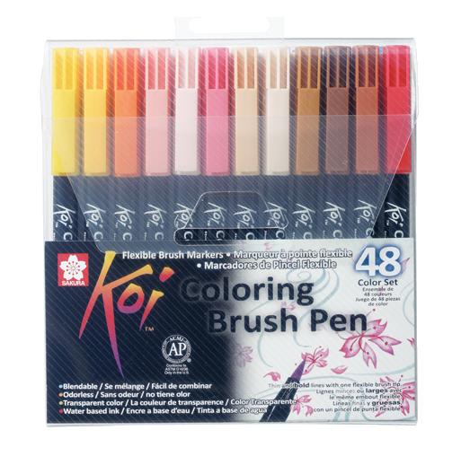 Sakura Koi Pintselmarkerid 48 värvi