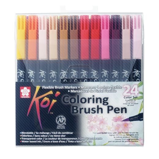 Sakura Koi Pintselmarkerid 24 värvi