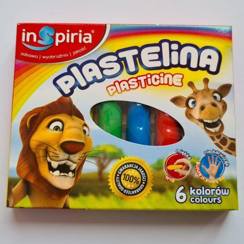 Plastiliin 6 värvi (Inspiria)