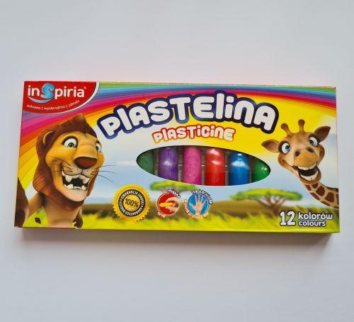 Plastiliin 12 värvi (Inspiria)