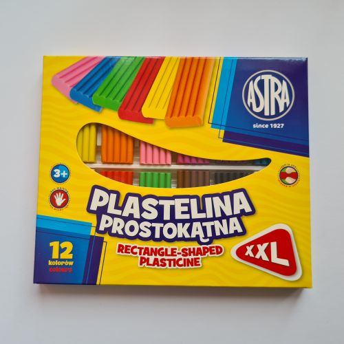Plastiliin XXL 12 värvi (Astra)