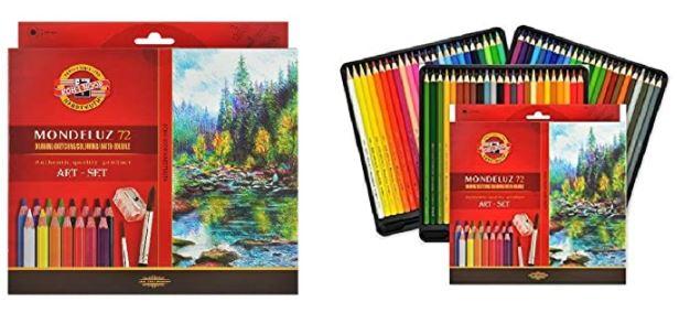 Koh-i-Noor Mondeluz Art 72, akvarellitavad pliiatsid, 72 värvi