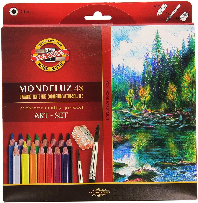 Koh-i-Noor Mondeluz Art 48, akvarellitavad pliiatsid, 48 värvi