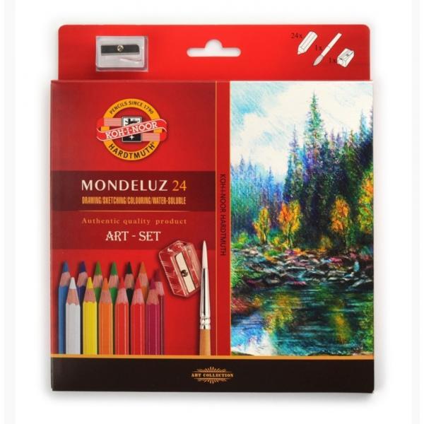 Koh-i-Noor Mondeluz Art 24, akvarellitavad pliiatsid, 24 värvi