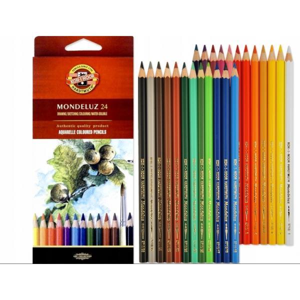 Koh-i-Noor Mondeluz 24, akvarellitavad pliiatsid, 24 värvi