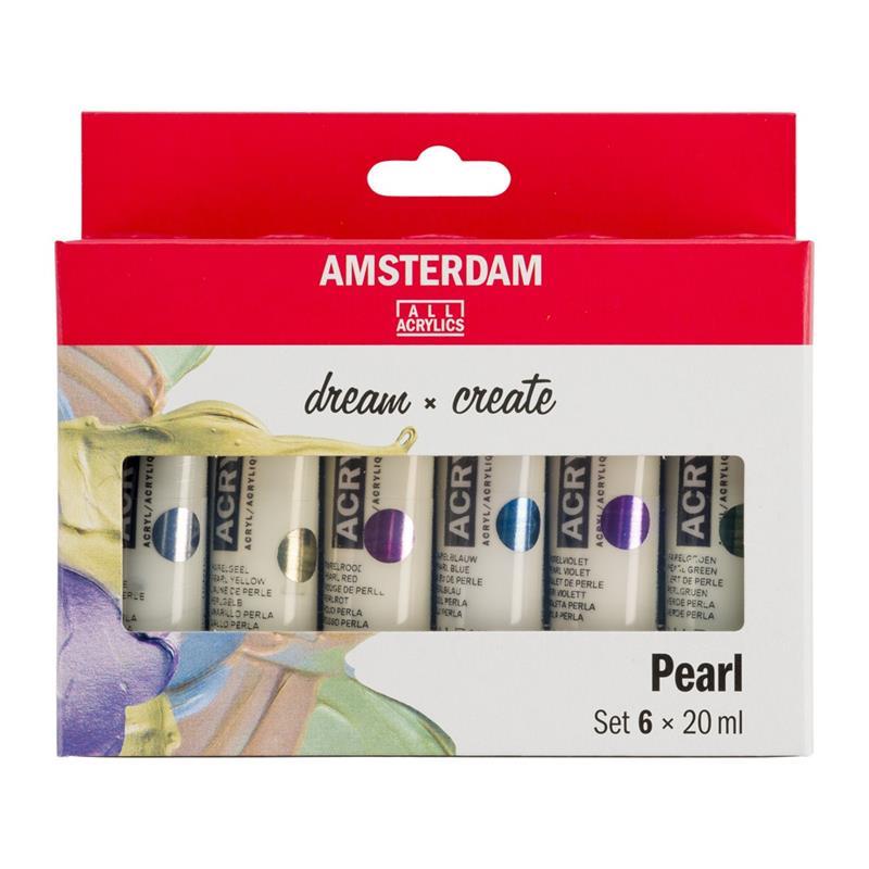 Akrüülvärvi komplekt Amsterdam 6x20ml, Pearl