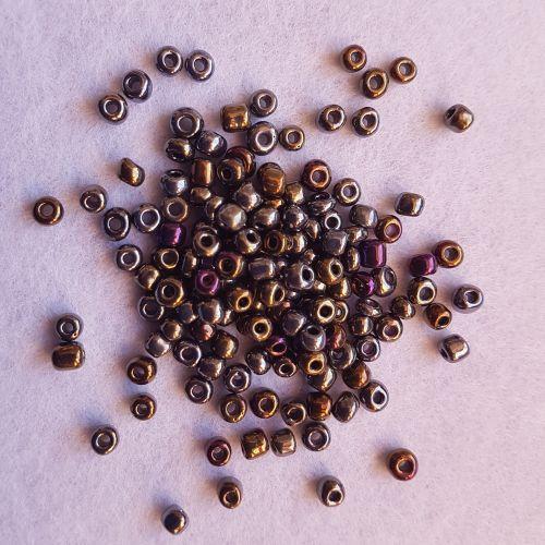 Seemnehelmed, 4mm, vikerpruun