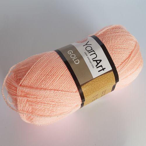 Lõng Yarn Art Gold, 100gr, 400m, lõheroosa 9353