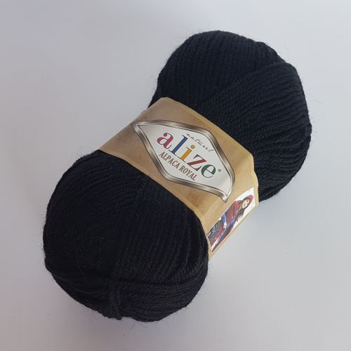 Lõng Alize Alpaca Royal, 100gr, 250m, must 60