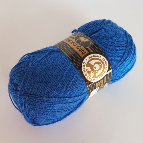 Lõng Merino Gold, 100gr, 400m, sinine 016