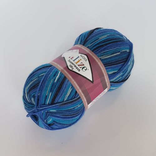 Lõng Alize Superwash Wool, 100gr, 420m, helesinine mix 4446