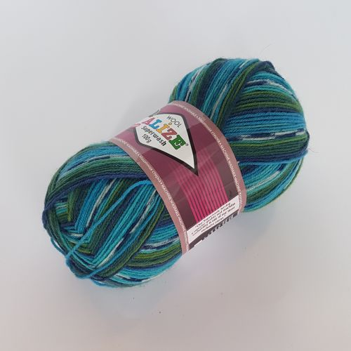 Lõng Alize Superwash Wool, 100gr, 420m, türkiis mix 4445
