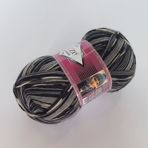 Lõng Alize Superwash Wool, 100gr, 420m, hall säbruline 2695
