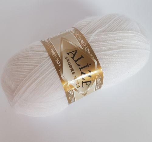 Lõng Alize Angora Gold, 100gr, 550m, valge 55