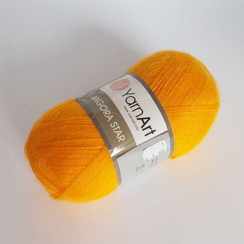 Lõng Yarn Art Angora STAR, 100gr, 500m, kollane 586
