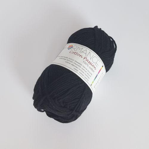 Heegelniit Cotton Passion, 50gr 85m, must