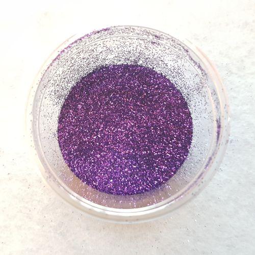 Glitterpulber, lilla