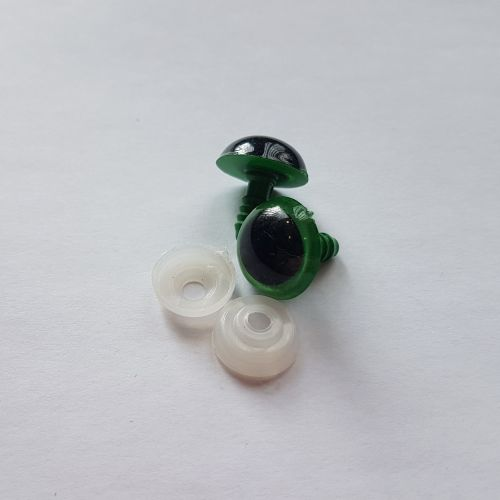 Turvasilmad, 16mm, rohelised, 2 tk