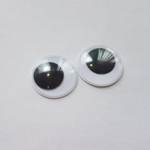 Kleebitavad silmad, 24mm, pakis 2 tk