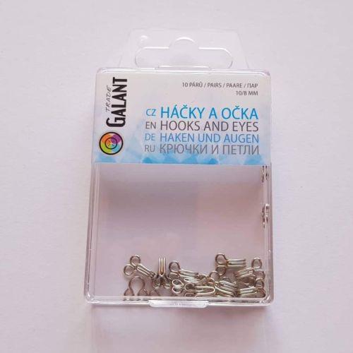 Haagid, 10mm/8mm, 10 paari, hõbedased