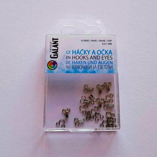 Haagid, 8,5mm/7mm, 10 paari, hõbedased